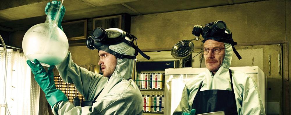 """Производство метамфетамина, кадр из сериала """"Во все тяжкие"""""""